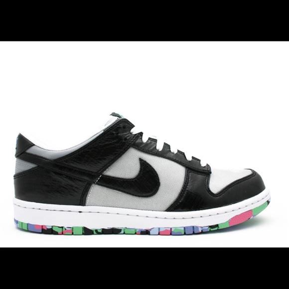 Nike Shoes - Nike Dunk Low Premium Black Silver 7.5